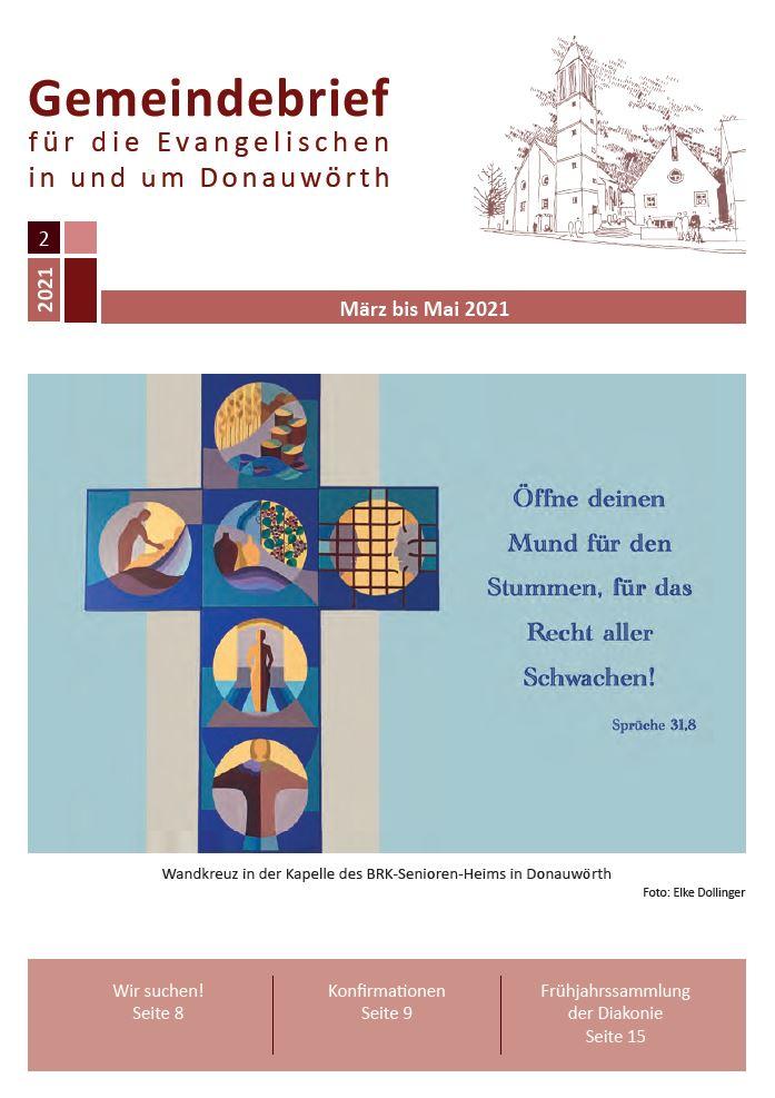 Wandkreuz in der Kapelle des BRK-Seniorenheimes in Donauwörth